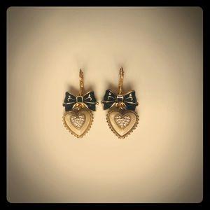 """Betsey Johnson """"Be Mine"""" heart earrings"""